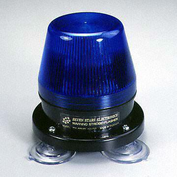 800mA/15W Strobe Flasher with Suction Cups, Suitable for Vehicles