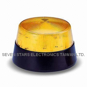 Warning Strobe Flasher with 3W Output and 12V DC Rated Voltage